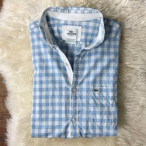 Lacoste Gingham Button-Down Shirt Large